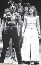 Janie Goddard, Shaun Harris and Madalyn Morgan Godspel at The Young Vic