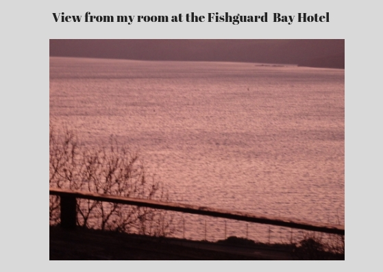 View from Fishguard hotel